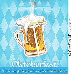 image with beer on oktoberfest for your business. edited