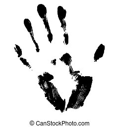 Image with black smeared hand imprint of mascara