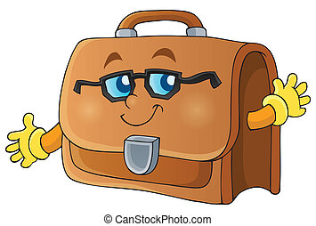Image with briefcase theme 1 - eps10 vector illustration.