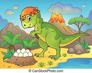 Image with dinosaur