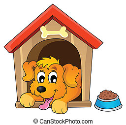 Image with dog theme 1 - eps10 vector illustration.