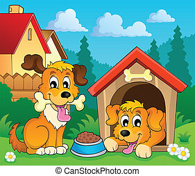 Image with dog theme 3 - eps10 vector illustration.