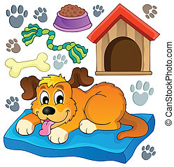 Image with dog theme 5 - eps10 vector illustration.