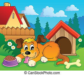 Image with dog theme 6 - eps10 vector illustration.