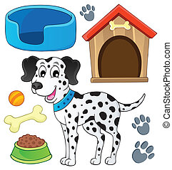 Image with dog theme 7 - eps10 vector illustration.