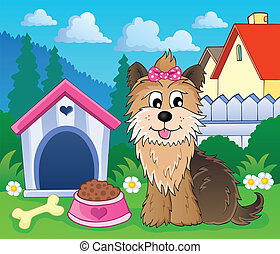 Image with dog topic 6 - eps10 vector illustration.