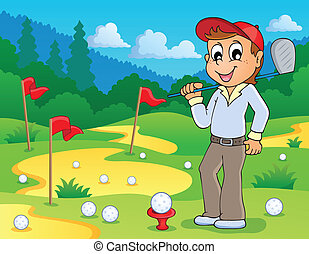 Image with golf theme 3 - eps10 vector illustration.