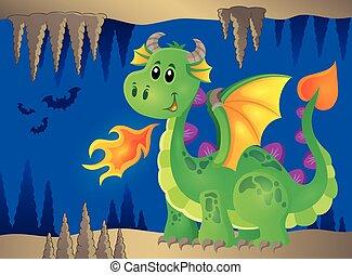 Image with happy dragon theme 2