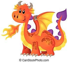 Image with happy dragon theme 4
