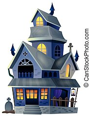 Image with haunted house thematics 1