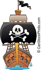 Image with pirate vessel theme 1
