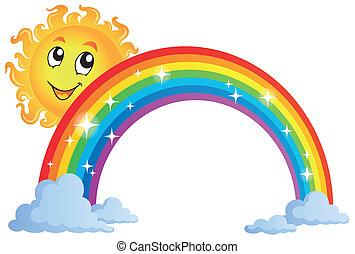 Image with rainbow theme 8 - eps10 vector illustration.