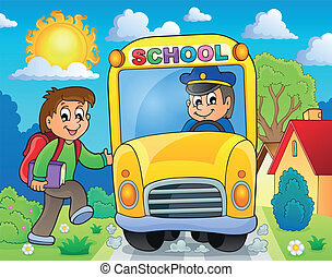 Image with school bus theme 6