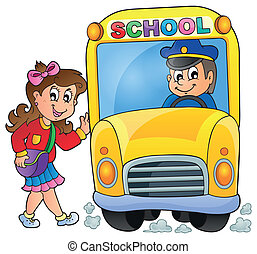 Image with school bus theme 7