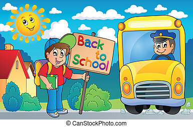Image with school bus topic 6