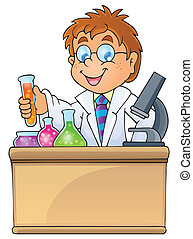 Image with school subject theme 1 - eps10 vector...