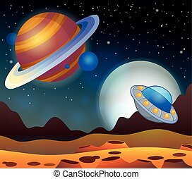 Image with space theme 2 - eps10 vector illustration.