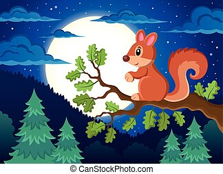 Image with squirrel theme 4