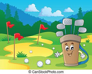 imagem, 2, golfe, tema