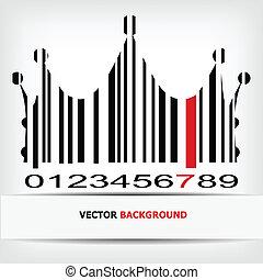 imagem, barcode, vermelho, faixa