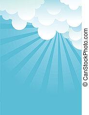 imagem, céu azul, beautifull, vetorial, clouds.