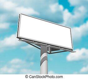 imagem, céu, contra, fundo, billboard, dia