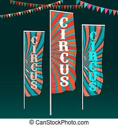 imagem, circo, bandeiras