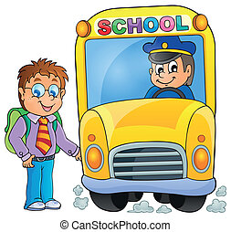 imagem, com, autocarro escolar, topic, 3