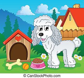 imagem, com, cão, topic, 1
