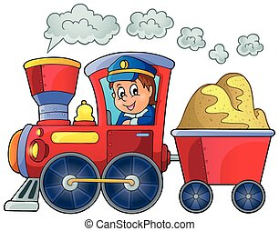 imagem, com, trem, tema, 2