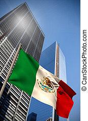 imagem composta, bandeira, nacional, méxico