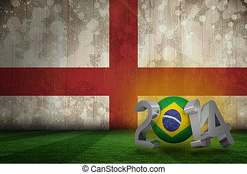 imagem composta, de, brasil, campeonato do mundo, 2014