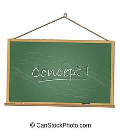 imagem, conceito, chalkboard