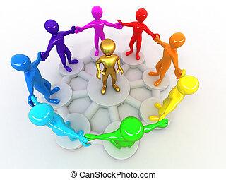 imagem conceitual, de, liderança