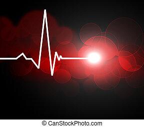imagem, de, coração, taxa