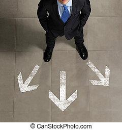 imagem, de, homem negócios, vista superior