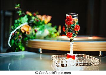 imagem, de, um, beautifully, decorado, casório, jurisdição