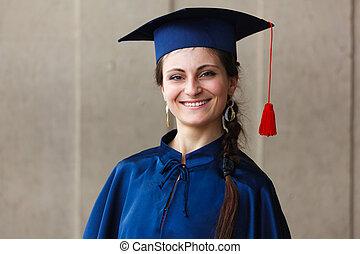 imagem, de, um, feliz, jovem, graduado