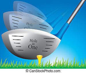imagem, de, um, taco golfe