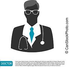 imagem, doutor, personagem, homem