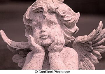 imagem, encantador, angelical