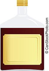 imagem, garrafa, vetorial