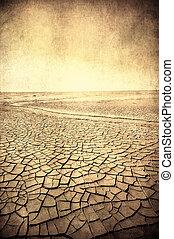 imagem, grunge, paisagem deserto