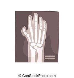 imagem, ilustração, mão, vetorial, human, x, caricatura, raio
