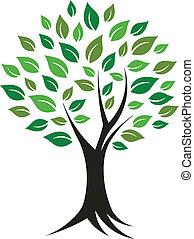 imagem, logotipo, árvore, planta