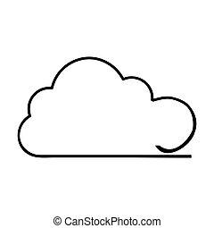 imagem, nuvem, ícone