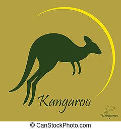imagem, vetorial, canguru