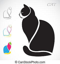 imagem, vetorial, gato