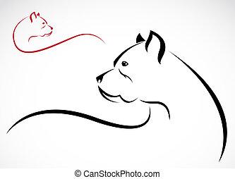 imagem, vetorial, pitbull