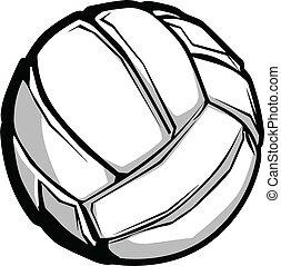 imagem, vetorial, voleibol